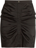 Etoile Isabel Marant Hotta ruched crepe de Chine mini skirt