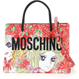 Moschino Marie Antoinette Leather Tote Bag Lady Oscar Print