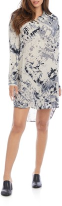 Karen Kane Long Sleeve Tie Dye Shirtdress