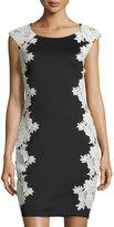 Jax Floral Lace Applique Sheath Dress