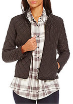 Daniel Cremieux Kristin Mandarin Collar Knit Side Quilted Jacket