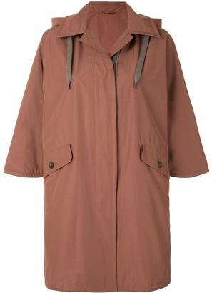 Brunello Cucinelli Hooded Cape Coat