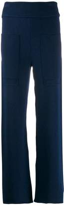 Cédric Charlier knitted wide-leg trousers