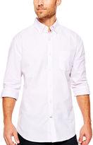 ST. JOHN'S BAY St. John's Bay Long-Sleeve Easy-Care Oxford Sport Shirt