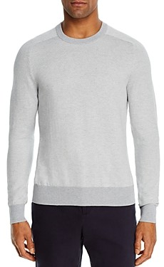 Bloomingdale's The Men's Store at Cotton-Blend Chevron Classic Fit Crewneck Sweater - 100% Exclusive
