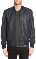 John Varvatos Leather Bomber Jacket