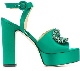 Giannico Open-Toe Platform Sandals