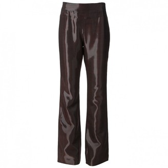 Jean Louis Scherrer Jean-louis Scherrer Burgundy Trousers for Women Vintage