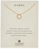 Dogeared Karma Flat Braided Circle Necklace