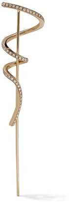 Sophie Bille Brahe 14kt yellow gold Pirouette pave diamond earring