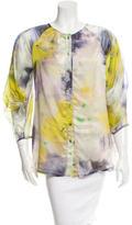 Lela Rose Silk Printed Top