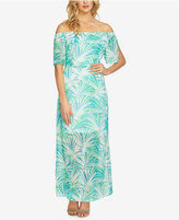 CeCe Off-The-Shoulder Floral-Print Maxi Dress