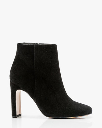 Le Château Italian-Made Suede Square Toe Ankle Boot