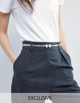 Pieces Alyssa Silver Waist Belt