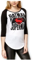Bioworld Womens Batman V Superman Baseball Graphic T-Shirt M