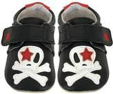 Jack & Lily Skull Shoe - Black, Size 6-12m