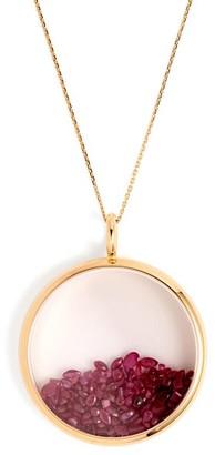 Aurélie Bidermann Fine Jewellery Aurelie Bidermann Fine Jewellery - Chivor Ruby & 18kt Gold Necklace - Red