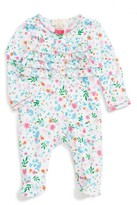 Kate Spade Infant Girl's Floral Ruffle Footie