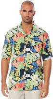Cubavera Big & Tall Short Sleeve Floral Camp Shirt