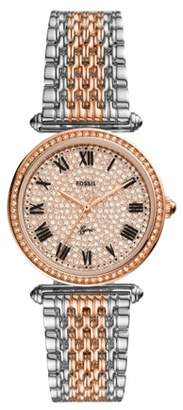 Fossil Limited Edition Lyric Three-Hand Two-Tone Stainless Steel Watch jewelry