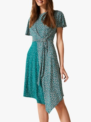Phase Eight Finella Floral Print Dress, Green/Multi