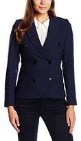 Les Petites Women's Long sleeve Gilet Blue Bleu (Marine)