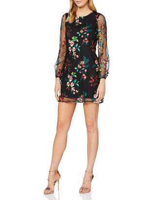 Yumi Black Embroidered Floral Tunic