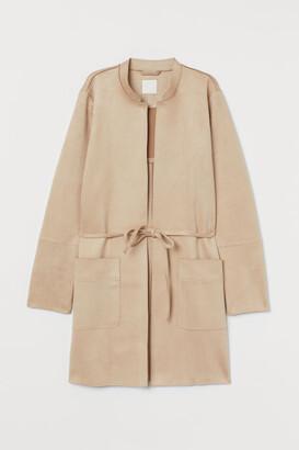 H&M Faux Suede Coat - Beige