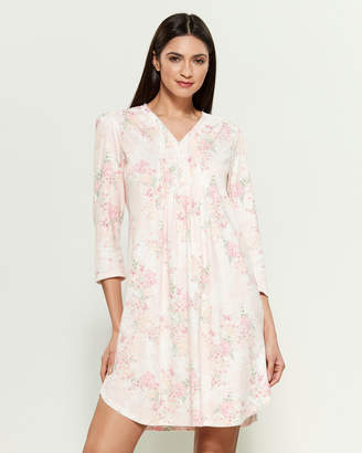 Miss Elaine Floral Print V-Neck Sleep Gown