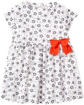 Petit Bateau Floral Print Dress With Bow (Baby) - Multi-Colored-3 Months