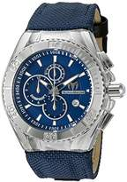Technomarine Men's Quartz Watch with Blue Dial Chronograph Display and Blue Silicone Strap TM-115174