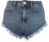 Topshop Moto frill hem high side shorts