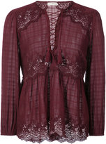 Ulla Johnson lace tie detail top
