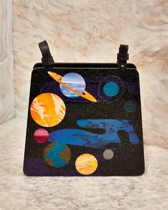 Edie Parker Spaced Out Acrylic Hardbody Top Handle Bag