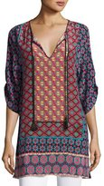 Tolani Courtney Silk Long Tunic, Plus Size
