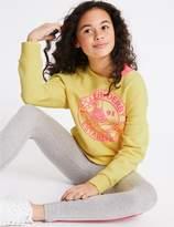 Marks and Spencer Slogan Sweatshirt (3-16 Years)