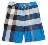 Burberry Boy's Mini Jeffries Check Swim Trunks