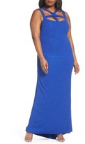 Marina Plus Size Women's Cutout Detail Gown
