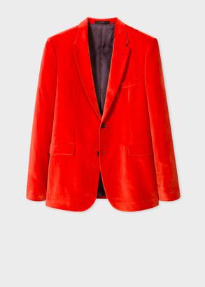 The Kensington - Men's Slim-Fit Bright Red Velvet Blazer