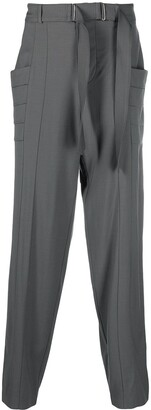 Vejas Belted Waist Tencel Trousers