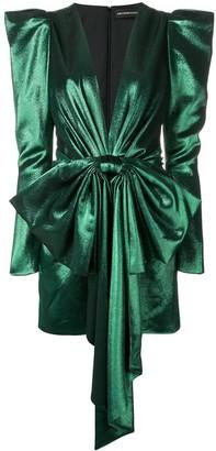 Alexandre Vauthier V-neck peplum dress