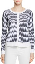 Three Dots Chevron Print Cardigan