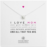 Dogeared I Love Mom Large Pearl Necklace, 18""