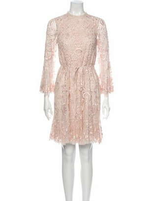 Needle & Thread Demetria Mini Knee-Length Dress w/ Tags Pink