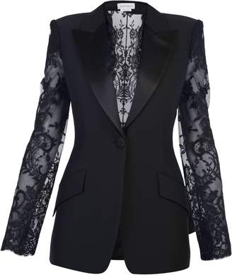 Alexander McQueen Lace Inserts Jacket