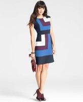 Ann Taylor Petite Geometric Colorblocked Sheath Dress