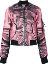 Moschino trompe-l'œil bomber - women - Nylon/Polyamide/Polyester/other fibers - 38