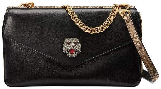 Gucci Python medium double shoulder bag