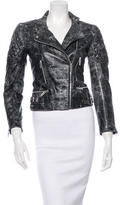 Christopher Kane Crackled Leather Moto Jacket
