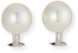Assael 18k White Gold Pearl Clip Earrings
